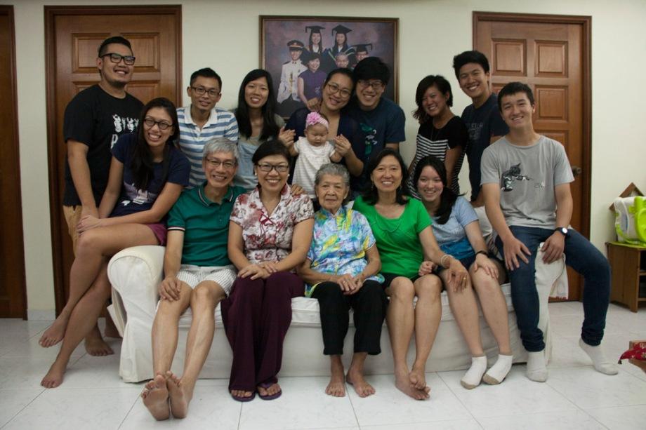 Portrait of a Singaporean Family.